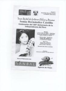 Afiche Publicitario Concierto Casa América año 2005